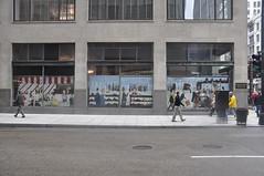 Monroe St. (dont fret) Tags: street chicago art carson paper scott ed graffiti downtown loop paste wheat dont popup fret hopper 2012 nighthawks pirie