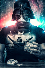 "113.2012 ""May the Fourth"" (dracorubio) Tags: light man me self vintage dark stars personal whiskey faded galaxy icecubes stormtrooper 365 pills darthvader"