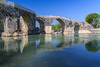 The Roman Eurymedon bridge (Köprüpazar Köprüsü) and the tourists checking it out, Aspendos Turkey (Maria_Globetrotter) Tags: old bridge blue summer sky people sun water beautiful weather stone architecture canon turkey river puente concrete spring cool nice ancient perfect warm europa europe day arch roman antique south türkiye picture pic visit tourists structure clear turquie türkei antalya pont sur times vault bro attraction aspendos zeit tiden anatolia köprü turquía aksu turcja turkiet anadolu romar antiken eurymedon 550d serik 1585 pamphylia römischer seljuq img6820 antalja köprüçay regionwide eurymedonbrücke romartiden mariaglobetrotter leurymédon