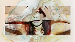 Vertigo II. (Laurianne Als) Tags: moon selfportrait colors face tattoo hair rouge photography nikon triangle exposure photographie hand autoportrait double mains dred cheveux tatouages d5100
