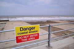 Skipsea/Ulrome erosion 2014-3 (Ackers- Schoolboy Hero!!!!) Tags: green cafe erosion coastal lane caravan railings bases southfield 2014 skipsea ulrome