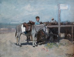 Mauve - Donkey stand on the beach at Scheveningen, c. 1876 (Elisa1880) Tags: beach netherlands strand de stand ezel den nederland donkey hague het mauve anton op haag collectie willem mesdag hendrik the ezelstandplaats