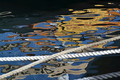Ropes and reflections, vieux port, Marseille (Jeanne Menj) Tags: abstract water colors reflections marseille ropes vieuxport