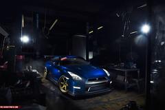 Nissan GTR (RedStarGraphics) Tags: blue car shop skyline photoshop nikon nissan photoshoot metallic garage performance fast automotive godzilla exotic turbo modified alpha import luxury v8 forged v10 jdm sportscar v6 gtr v12 boosted nismo carporn 1000hp 1000whp