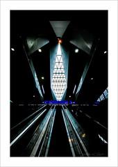 rising from darkness... (ekkiPics) Tags: vienna wien building architecture train reflections dark gloomy hauptbahnhof repetition publictransport flickrmeet lightroom travelphotography nikond80 lighjt tokinaatxpro1116 theglobalcamelcommittee vienna2016 centrlastation