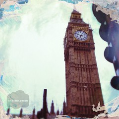 ( Black Orchid ) Tags: london clock westminster time cloudy walk bigben hipstamatic