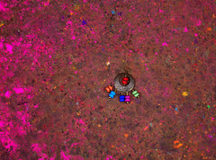 someone has lost her ring in holi festival (dr.ms_haque) Tags: red color festival ring ear dhaka holi bangladesh olddhaka