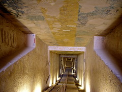 Valley of the Kings, tomb of Merenptah (KV 8), second internal corridor (dr.heatherleemccarthy) Tags: sculpture monument cemetery stone architecture painting ancient stonework tomb egypt relief kings valley necropolis thebes merenptah