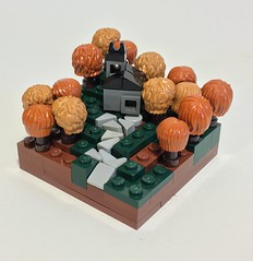 The Chapel on the Wooded Hill (dzambito42) Tags: tree lego chapel micro thesummerjoust