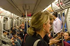 pole dancers (zac evans photography) Tags: city nyc urban newyork brooklyn train subway coneyisland island metro queens f inside passenger manhatten travelers staten yaszacevansphoto