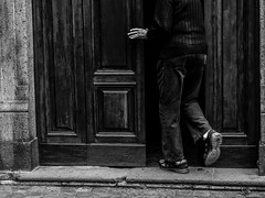 Entering the church (DanieleS.) Tags: street city light people urban bw white black monochrome wow walking photography lights mono photo spring amazing cool strada shot good great saturday bn di fotografia dannyboy bianco nero daniele orvieto 2016 salutari ilovedannyboy