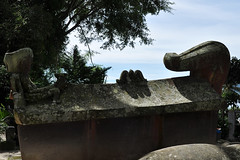Lake Toba - The Radja's Tombstone (Drriss & Marrionn) Tags: travel sumatra indonesia skull outdoor tomb sarcophagus laketoba radja samosir simanindo ambarita