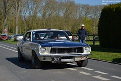 Ford Mustang 289 1967 (Monde-Auto) Tags: auto france ford tour course mustang blanche coup courances comptition automoto