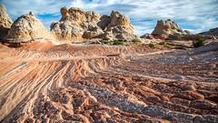 Folds and swirls (The Charliecam) Tags: morning arizona white monument canon landscape utah sandstone colorado desert plateau alien cliffs national pocket vermilion 6d 24105l