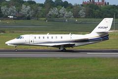 N363AP.PIK050616 (MarkP51) Tags: n363ap cessna 680 citationsovereign bizjet corporatejet prestwick airport pik egpk scotland aviation aircraft airplane plane image markp51 nikon d7200