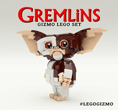 Vote for Gizmo to become a LEGO set below! (buggyirk) Tags: set movie lego retro 80s gizmo ideas gremlins moc afol buggyirk