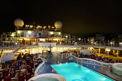 Sun Deck 15 /  (abandoned24) Tags: travel hongkong sony swimmingpool deck   sapphireprincess princesscruises openaircinema      rx100m3