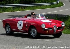 - Alfa Romeo Giulietta Spider Sebring - 1956 - Carrisi Antonio - del Portello (pietroz) Tags: silver photo foto photos flag historic fotos pietro storico zoccola 21 storiche vernasca pietroz