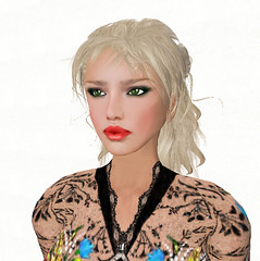 2.24. Serenity goes shopping_007 (Q aka dymoon (Qyhat Harbor)) Tags: fashion hair eyes shoes makeup style sl floraldress designerclothes