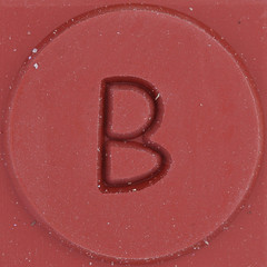 Rubber Stamp Letter B (Leo Reynolds) Tags: b canon eos iso100 letter squaredcircle 60mm f80 oneletter bbb letterset 0sec 40d hpexif grouponeletter xsquarex xleol30x sqset075