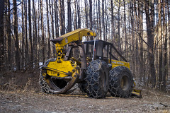 Skiddah (oliva732000) Tags: trees winter woods diesel forestry logging newhampshire dry nh equipment heavy sutton skidder