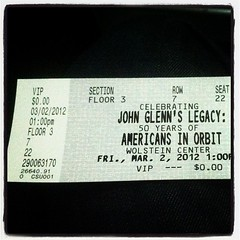 #VIP yo #nasatweetup #JohnGlenn