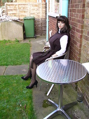 andrea seated 013 (gymslip-connoiseur) Tags: school girls uniforms gymslips