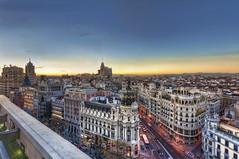 Il cielo sopra Madrid / The sky over Madrid (Fil.ippo) Tags: madrid above sunset panorama tramonto cityscape sigma 1020 alto artes hdr filippo paesaggio circulo bellas d5000