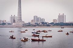Boating on the Taedong River (momo) Tags: boating northkorea nationalday pyongyang dprk juchetower taedongriver