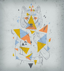 wolves three angles (mw82) Tags: art illustration silver design wolf graphic vector