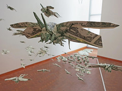 The Plague (MABONA ORIGAMI) Tags: origami locust swarm plague money capitalism georgewashington america la japan folding art siphomabona