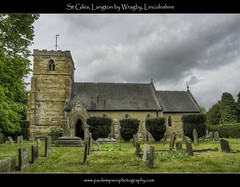 St Giles, Langton by Wragby (Paul Simpson Photography) Tags: trees building tower church window stone religious religion headstones graves lincolnshire hdr stgiles photosof picturesof imagesof may2011 langtonbywragby paulsimpsonphotography