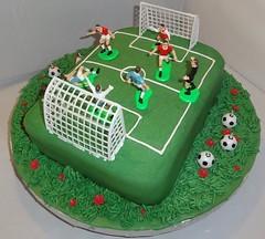Soccer cake (Kageting.dk) Tags: cake caketopper kage fodbold fondant fdselsdagskage sugarmodelling