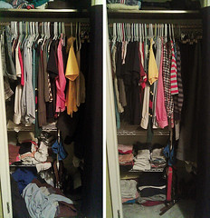 Closet, cleaned