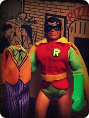 """Holy Half-Naked Harlequins, Batman!"" (Wizard of X) Tags: robin comics actionfigure dc batman 1970s mego aguaman worldsgreatestsuperheroes wizardofx wordsgreatestsuperheroes"