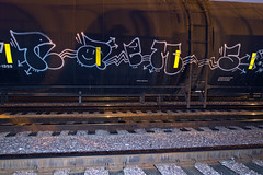 RAEMS (TRUE 2 DEATH) Tags: longexposure railroad train graffiti tag graf trains railcar railways railfan freight tanker amfm freighttrain rollingstock  benching freighttraingraffiti raems ricohgriv