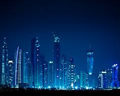 Dubai skyline (miemo) Tags: city travel urban skyline night buildings lights dubai skyscrapers uae middleeast olympus arabia neonlights unitedarabemirates dubaimarina ep1 explored omzuiko100mmf28