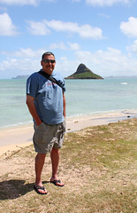 Al at Chinaman's Hat, Kualoa Regional Park, Oahu Hawaii (marydenise6) Tags: ocean park sea beach hat island hawaii al sand oahu kualoa chinamanshat chinamans kualoaregionalpark