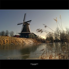 the old mill.... (Zino2009 (bob van den berg)) Tags: winter cold holland mill ice dutch grass photography daylight afternoon nederland sunny typical renovation riet deventer zonlicht middag ijs februari restauratie restauration zaagmolen bobvandenberg coth5 zino2009