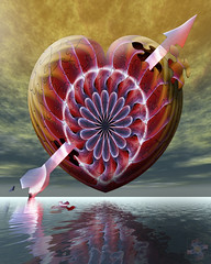 Love is a Puzzle Not for the Faint of Heart (Psycho_Babble) Tags: abstract reflection heart smoke puzzle arrow incense smokeart smokephotography smokephoto smokemanipulation creativesmoke