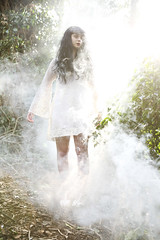 (sosij) Tags: woods smoke rebs lacedress longblackhair