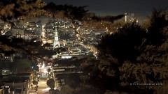 View from Telegraph Hill Neighborhood  at Night (S Ty Photography) Tags: sanfrancisco california northerncalifornia coittower sanfranciscobayarea telegraphhill longexposures stpeterandpaulchurch canoneos500d canoneost1i