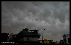 - Mammatus cloud above Jerusalem (moshek70) Tags: sky cloud weather clouds israel jerusalem   cumulonimbus  mammatus
