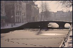 rapenburg leiden (hans van egdom) Tags: winter leiden sneeuw rapenburg