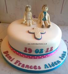 Siblings Christening Cake (Creations By Paula Jane) Tags: cross sister brother ivory siblings older christeningcake