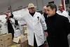 Nicolas Sarkozy visite le marché de Rungis