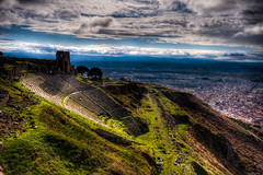 Pergamon Theatre, Turkey (Nejdet Duzen) Tags: trip travel history turkey ancient theatre trkiye ruin izmir harabe pergamon antik tiyatro pergamum bergama turkei seyahat tarih helenistic saariysqualitypictures mygearandme