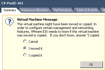 Using PowerCLI To Answer Virtual Machine Message Questions » boche