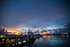 Sunset in Key West - August '11 (F. Bajetti Photographer - Landscapes) Tags: ocean sunset palms boats lights florida south cuba caribbean rum keywest seaport
