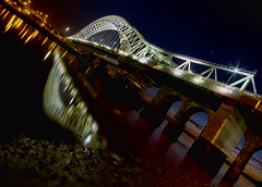 The a-bridged version (Photography by Versfeld) Tags: lights cheshire runcorn widnes runcornbridge